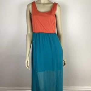 Charlotte Russe Womens Teal Long Dress Size M A6